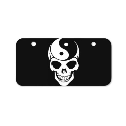 Yin Yang Skull Bicycle License Plate Designed By Lyly