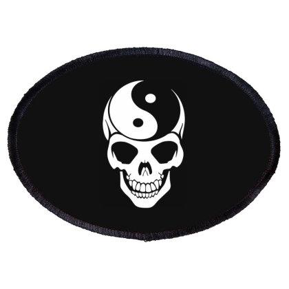 Yin Yang Skull Oval Patch Designed By Lyly