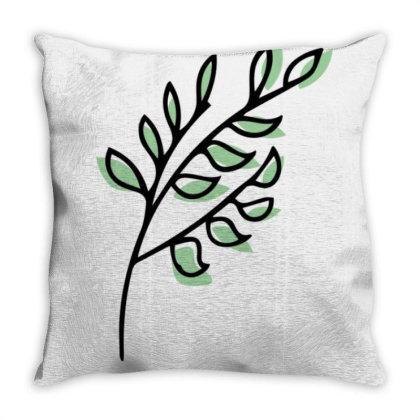 Leaf Design Throw Pillow Designed By Dineshoram6041