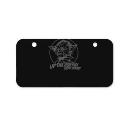 Yoda Funny Slogan Retro Movie Bicycle License Plate Designed By Lyly