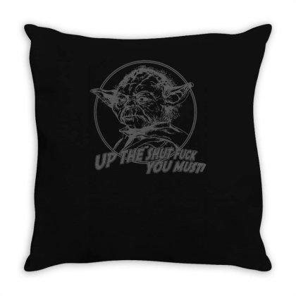 Yoda Funny Slogan Retro Movie Throw Pillow Designed By Lyly