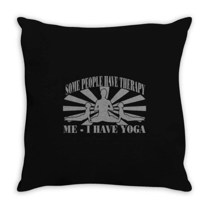 Yoga Throw Pillow Designed By Lyly