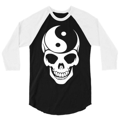 Yin Yang Skull 3/4 Sleeve Shirt Designed By Lyly