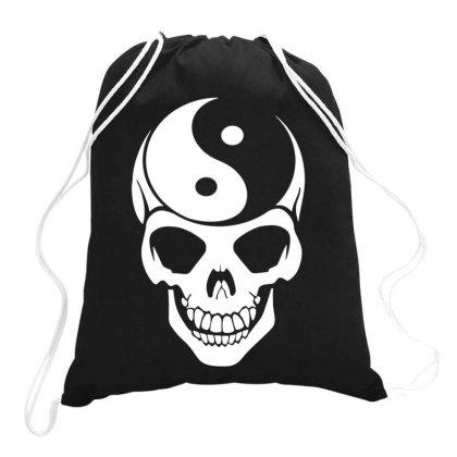 Yin Yang Skull Drawstring Bags Designed By Lyly