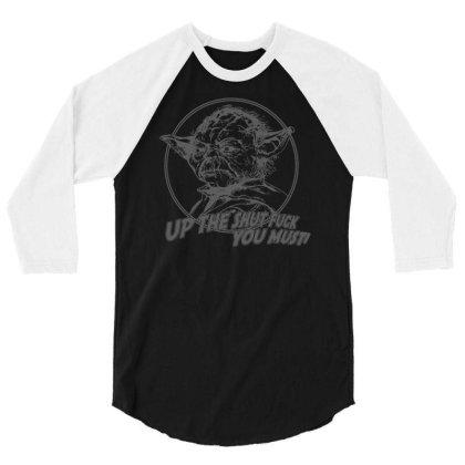 Yoda Funny Slogan Retro Movie 3/4 Sleeve Shirt Designed By Lyly