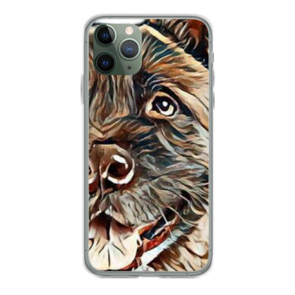 Portrait Of Brown Akita Over Iphone 11 Pro Case Designed By Kemnabi