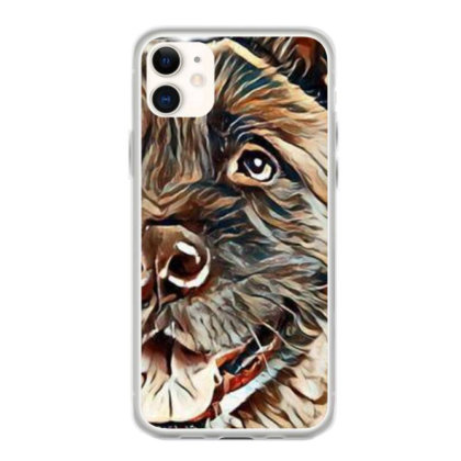 Portrait Of Brown Akita Over Iphone 11 Case Designed By Kemnabi