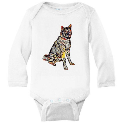 Portrait Of Brown And Black A Long Sleeve Baby Bodysuit Designed By Kemnabi