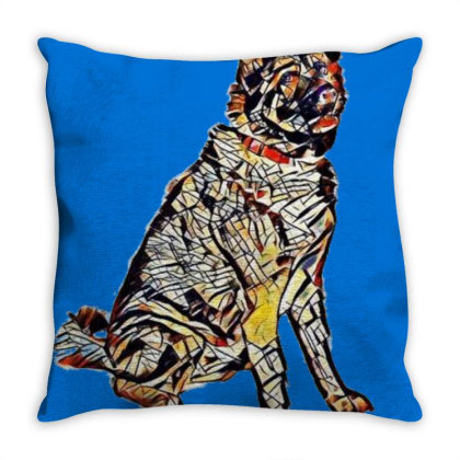 Portrait Of Brown And Black A Throw Pillow Designed By Kemnabi