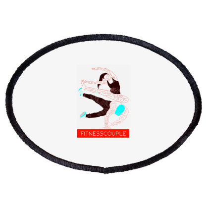 Fitness Couples Oval Patch Designed By .m.e.l.u.h.a. Fashion Store