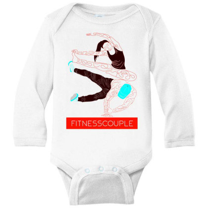 Fitness Couples Long Sleeve Baby Bodysuit Designed By .m.e.l.u.h.a. Fashion Store