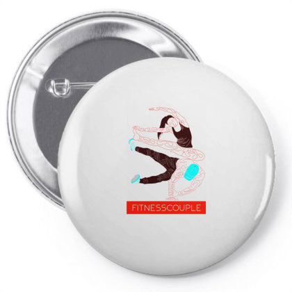 Fitness Couples Pin-back Button Designed By .m.e.l.u.h.a. Fashion Store