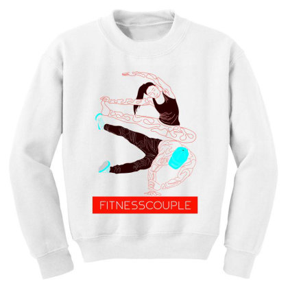 Fitness Couples Youth Sweatshirt Designed By .m.e.l.u.h.a. Fashion Store