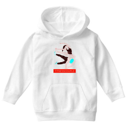 Fitness Couples Youth Hoodie Designed By .m.e.l.u.h.a. Fashion Store