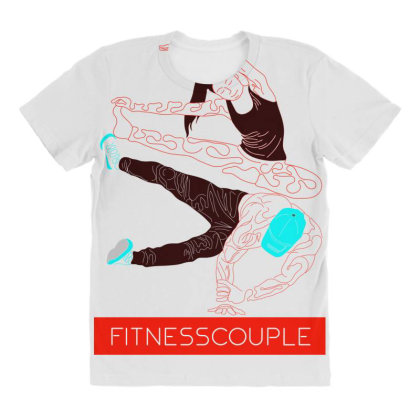 Fitness Couples All Over Women's T-shirt Designed By .m.e.l.u.h.a. Fashion Store