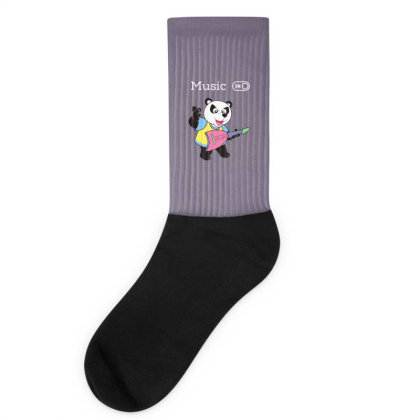 Panda And Music Lovers Socks Designed By Fashionnetwork