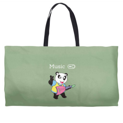 Panda And Music Lovers Weekender Totes Designed By Fashionnetwork