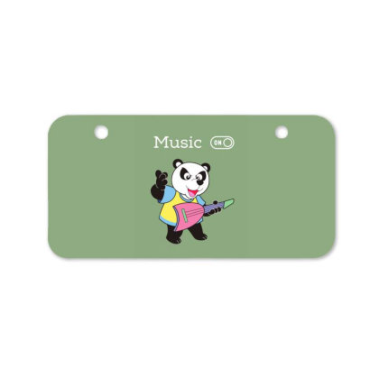 Panda And Music Lovers Bicycle License Plate Designed By Fashionnetwork