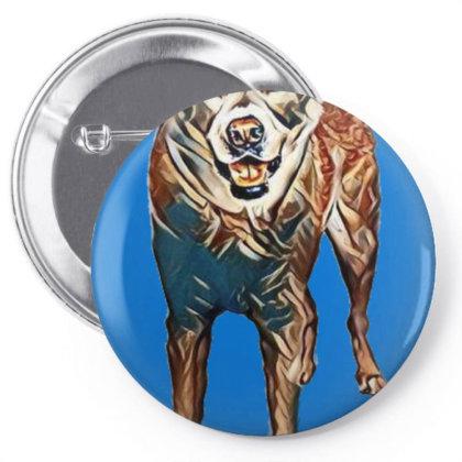 Portrait Of Akita Dog Standin Pin-back Button Designed By Kemnabi