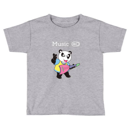 Panda And Music Lovers Toddler T-shirt Designed By Fashionnetwork