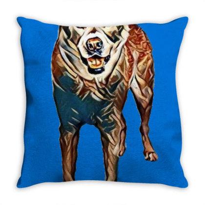 Portrait Of Akita Dog Standin Throw Pillow Designed By Kemnabi