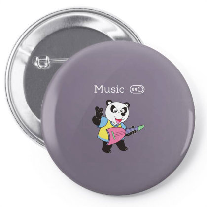 Panda And Music Lovers Pin-back Button Designed By Fashionnetwork