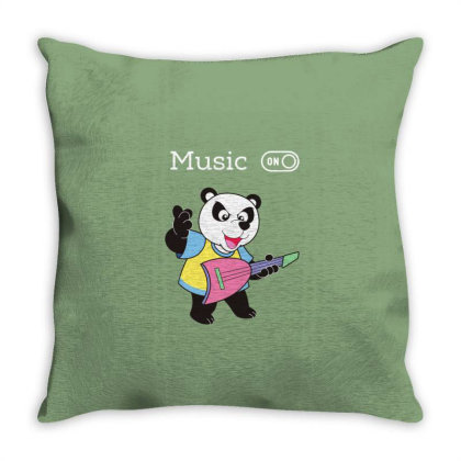 Panda And Music Lovers Throw Pillow Designed By Fashionnetwork