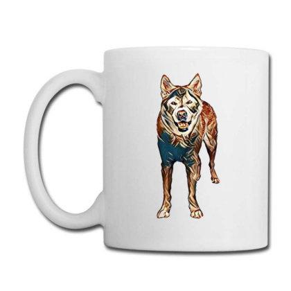 Portrait Of Akita Dog Standin Coffee Mug Designed By Kemnabi