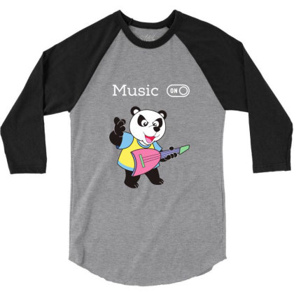 Panda And Music Lovers 3/4 Sleeve Shirt Designed By Fashionnetwork
