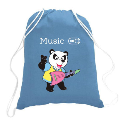 Panda And Music Lovers Drawstring Bags Designed By Fashionnetwork
