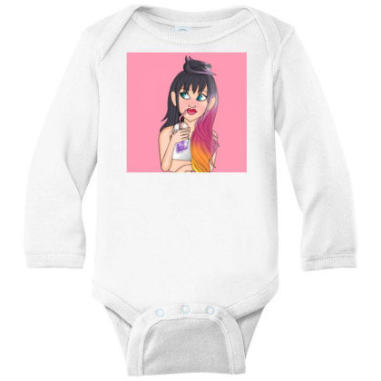 Smoothie Girl Long Sleeve Baby Bodysuit Designed By Scarlett