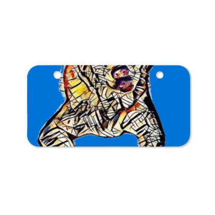 Portrait Of Bored Akita Dog L Bicycle License Plate Designed By Kemnabi