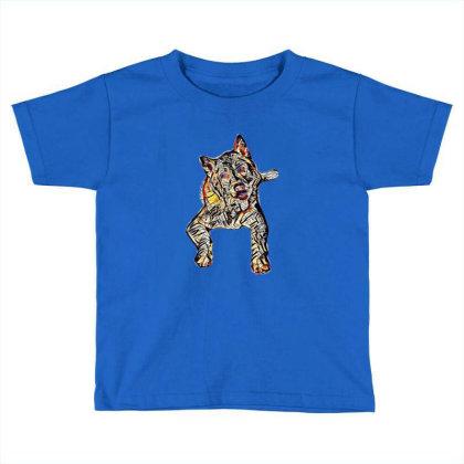 Portrait Of Bored Akita Dog L Toddler T-shirt Designed By Kemnabi