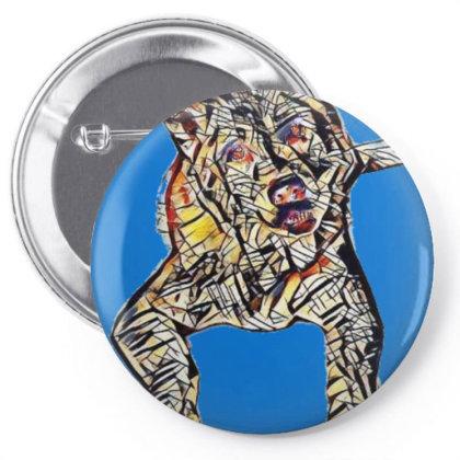 Portrait Of Bored Akita Dog L Pin-back Button Designed By Kemnabi