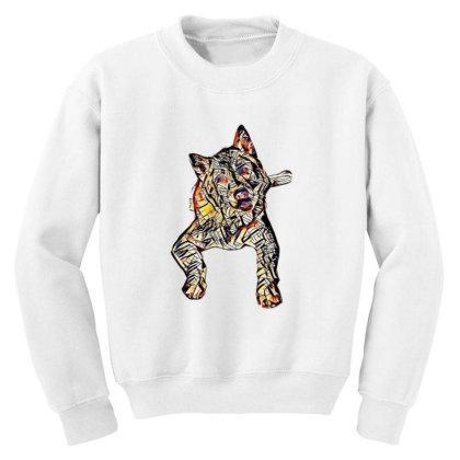 Portrait Of Bored Akita Dog L Youth Sweatshirt Designed By Kemnabi
