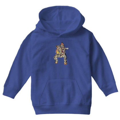 Portrait Of Bored Akita Dog L Youth Hoodie Designed By Kemnabi