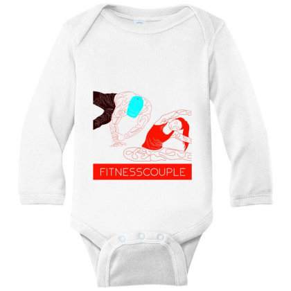 Fitness Couple 2 Long Sleeve Baby Bodysuit Designed By .m.e.l.u.h.a. Fashion Store