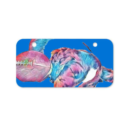 Adorable Young Puppy Sleeping Bicycle License Plate Designed By Kemnabi