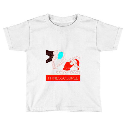 Fitness Couple 2 Toddler T-shirt Designed By .m.e.l.u.h.a. Fashion Store