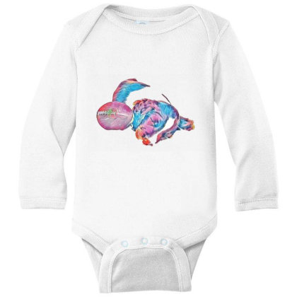 Adorable Young Puppy Sleeping Long Sleeve Baby Bodysuit Designed By Kemnabi