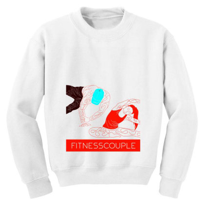 Fitness Couple 2 Youth Sweatshirt Designed By .m.e.l.u.h.a. Fashion Store