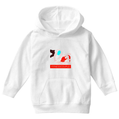 Fitness Couple 2 Youth Hoodie Designed By .m.e.l.u.h.a. Fashion Store