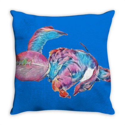Adorable Young Puppy Sleeping Throw Pillow Designed By Kemnabi