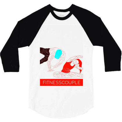 Fitness Couple 2 3/4 Sleeve Shirt Designed By .m.e.l.u.h.a. Fashion Store