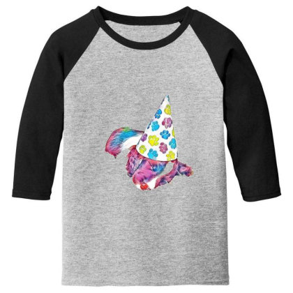 Cute English Springer Spaniel Youth 3/4 Sleeve Designed By Kemnabi