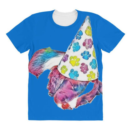 Cute English Springer Spaniel All Over Women's T-shirt Designed By Kemnabi