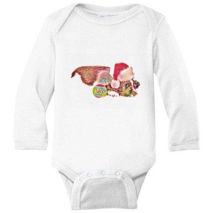 Cute Little Puppy Wearing A C Long Sleeve Baby Bodysuit Designed By Kemnabi