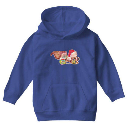 Cute Little Puppy Wearing A C Youth Hoodie Designed By Kemnabi