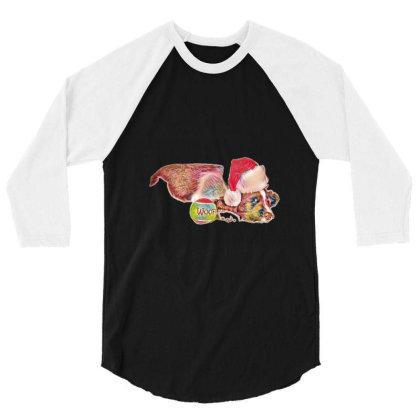 Cute Little Puppy Wearing A C 3/4 Sleeve Shirt Designed By Kemnabi