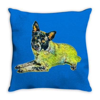A Pretty Adult Australian She Throw Pillow Designed By Kemnabi
